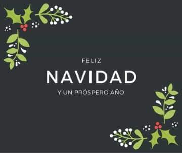 tarjetas de navidad con mensajes sencillas