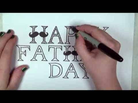 tarjetas feliz dia del padre manuales