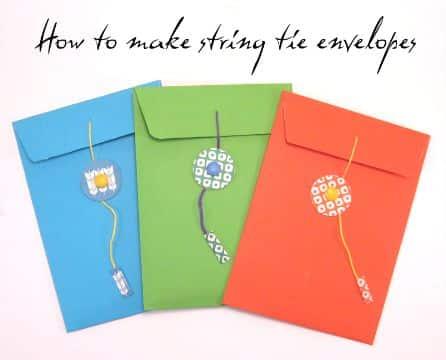 como hacer sobres para tarjetas coloridos
