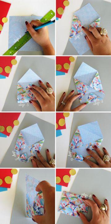 como hacer sobres para tarjetas con fotos