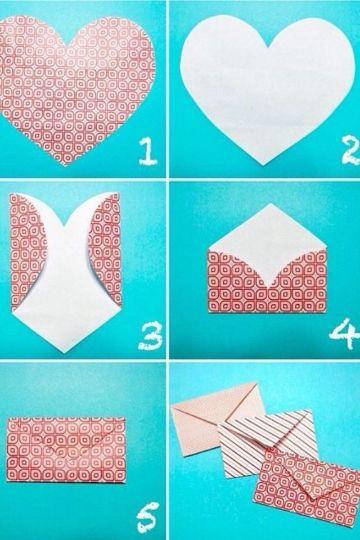 como hacer sobres para tarjetas paso a paso