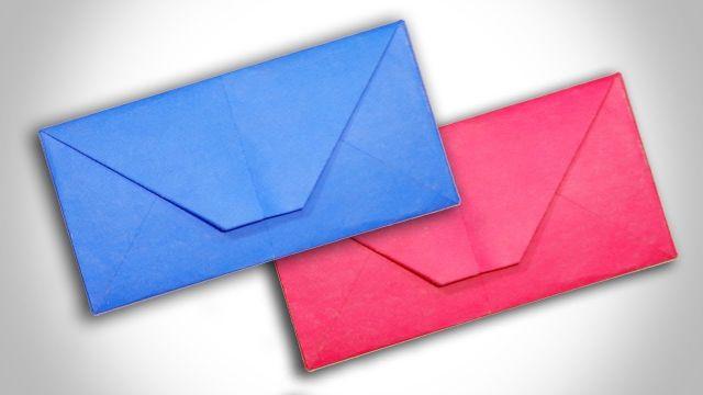 como hacer un sobre de papel de color