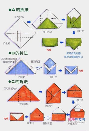 como hacer un sobre de papel paso a paso