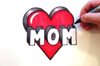 corazones para el dia de la madre dibujo