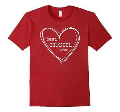 corazones para el dia de la madre en playera