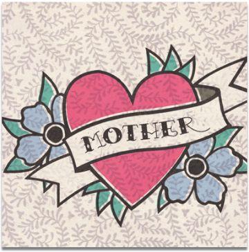 corazones para el dia de la madre tipo tatuaje