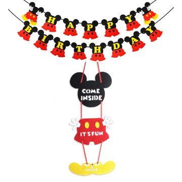 letreros de cumpleaños de mickey mouse grandes para muros