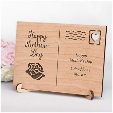 postales por el dia de las madres de madera