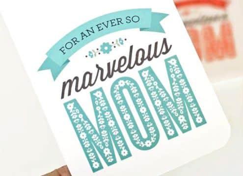 postales por el dia de las madres tipografias