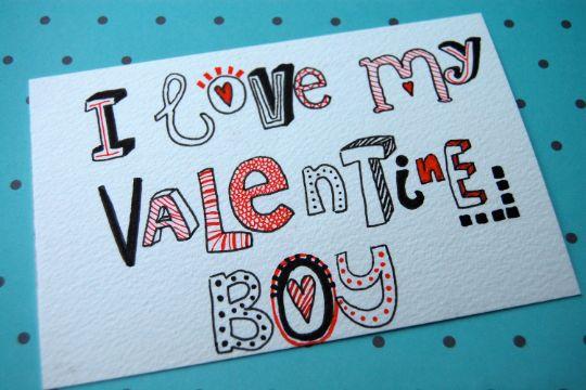 tarjetas de amor a mi novio tipografias