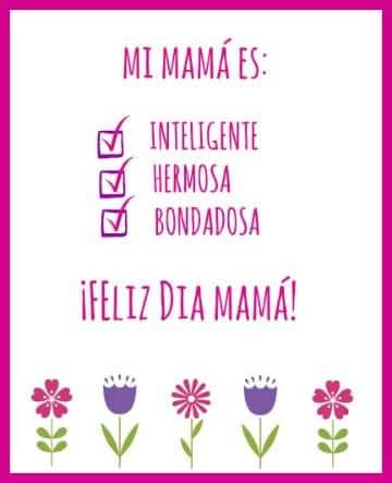 tarjetas dia de la madre para imprimir creativas