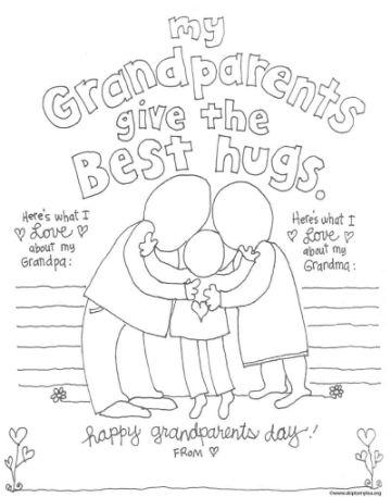 tarjetas para el dia de los abuelos para colorear