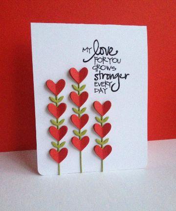 como hacer tarjetas de amor con relieves