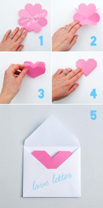 como hacer tarjetas de amor tipo carta