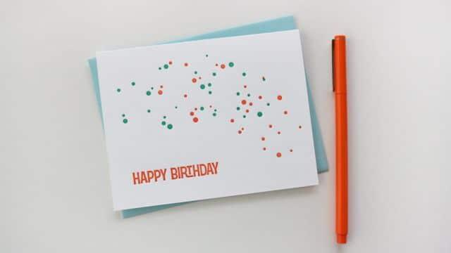 como hacer una tarjetas de cumpleaños minimalista