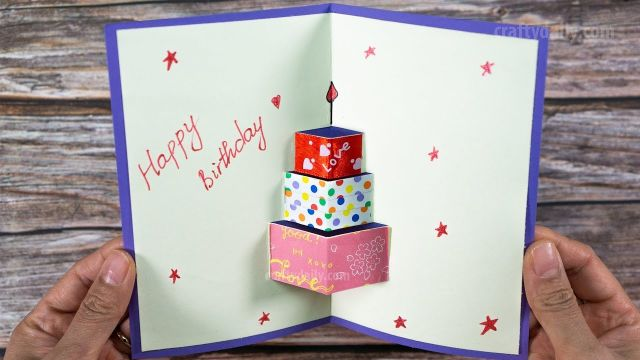 como hacer una tarjetas de cumpleaños pop up