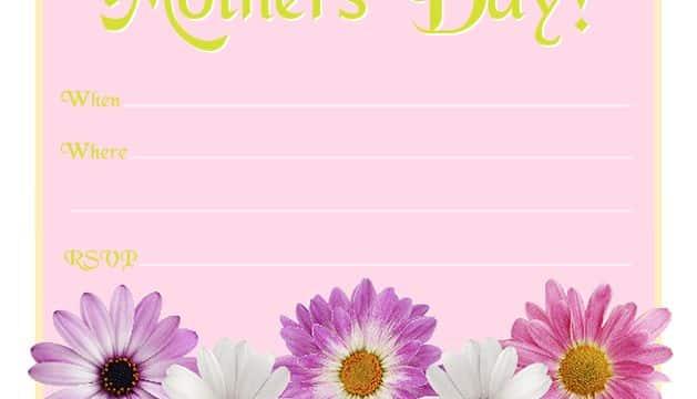 invitaciones para el dia de la madre con flores