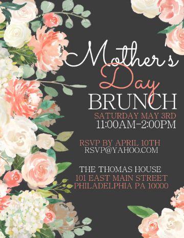invitaciones para el dia de la madre muchos ornamentos