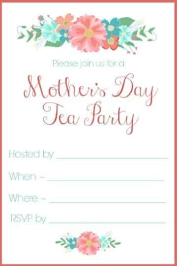 invitaciones para el dia de la madre para editar