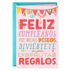 tarjetas de cumpleaños para primos con letras
