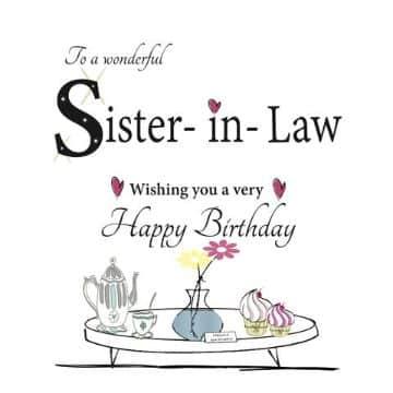 tarjetas de cumpleaños para una cuñada bonita
