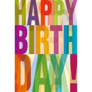 tarjetas de cumpleaños en ingles tipografia