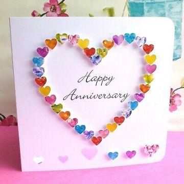 tarjetas de feliz aniversario de bodas hecha a mano