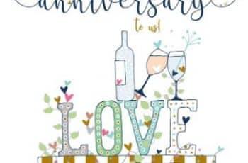 tarjetas de feliz aniversario de bodas moderna