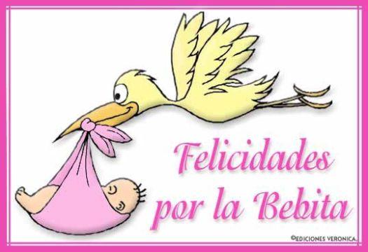 felicitacion de nacimiento de bebe dibujos