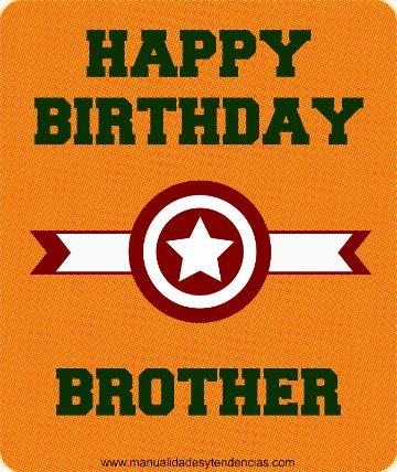 tarjetas de cumpleaños para hermanito superheroe