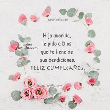 tarjetas de cumpleaños para una hija marcos de flores