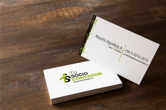 tarjetas de presentacion contadores frente y reverso