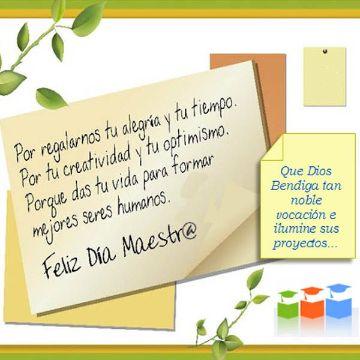 tarjetas por el dia del maestro frases
