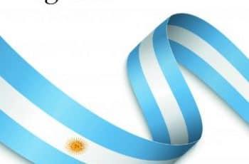feliz dia de la independencia argentina banderin para editar
