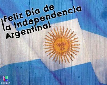 feliz dia de la independencia argentina con bandera