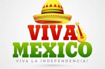 feliz dia de la independencia mexico tipo dibujo