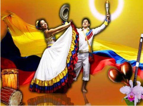 feliz independencia colombia con bailes tipicos