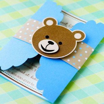 modelos de tarjetas de baby shower manuales