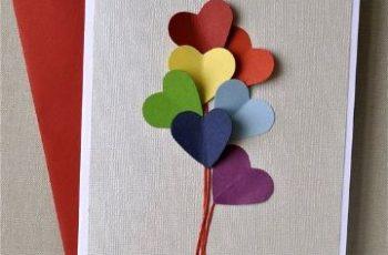 tarjetas de cumpleaños para hacer a mano corazones