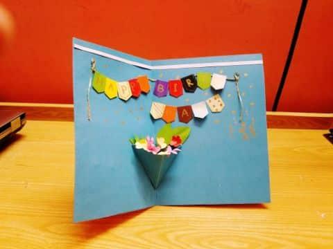 tarjetas de cumpleaños para hacer a mano pop up