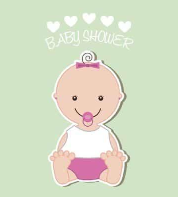 tarjetas de invitacion para baby shower dibujos tiernos