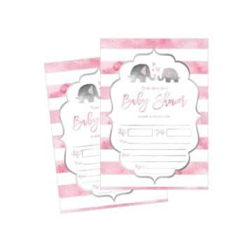 tarjetas de invitacion para baby shower para editar