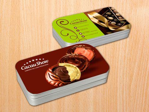 tarjetas de presentacion creativas para restaurantes con fotografias