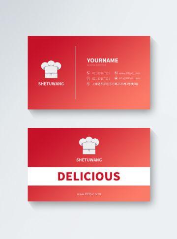 tarjetas de presentacion creativas para restaurantes ideas para editar