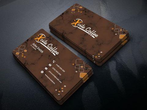 tarjetas de presentacion de cafeterias con texturas