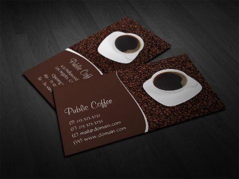 tarjetas de presentacion de cafeterias fotos de tazas