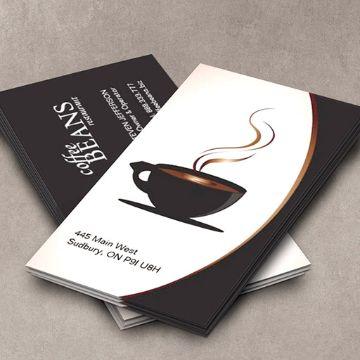 tarjetas de presentacion de cafeterias logos originales