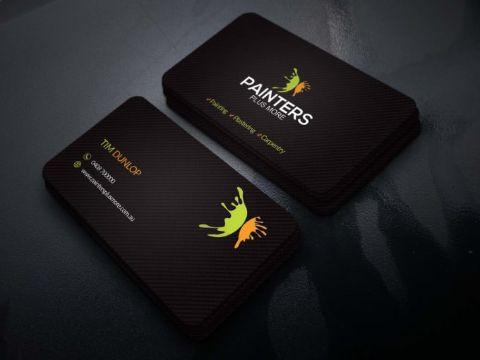 tarjetas de presentacion para pintores elegantes