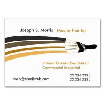 tarjetas de presentacion para pintores para editar