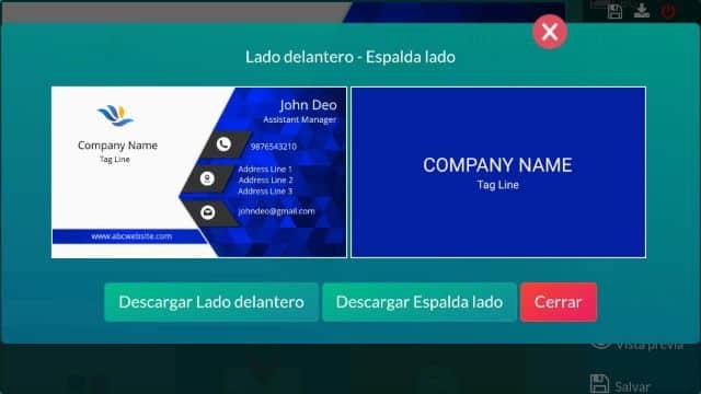 tarjetas de presentacion virtuales ejemplo en edicion